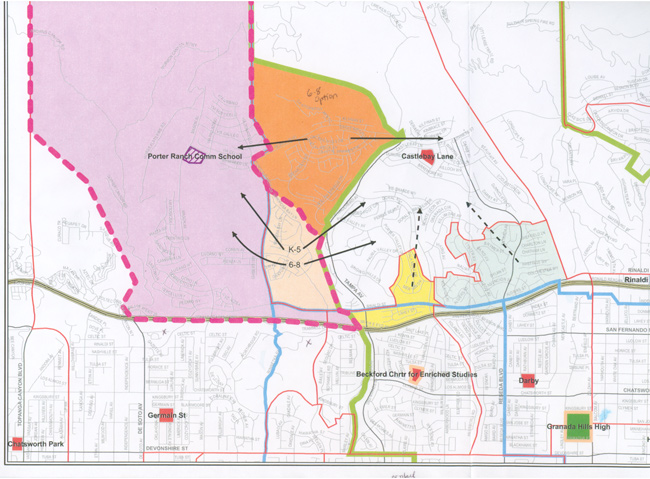 Porter Ranch Community School Boundaries