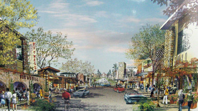 Shopping center rendering