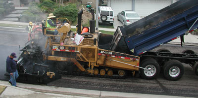 Resurfacing a Porter Ranch Street