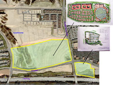 Aerial development view