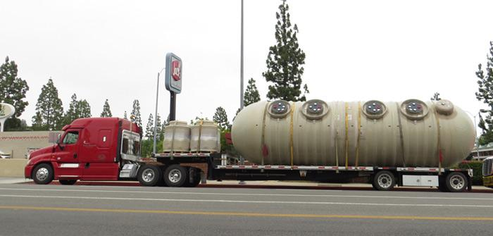 Tanks being delivered to Tampa and Rinaldi