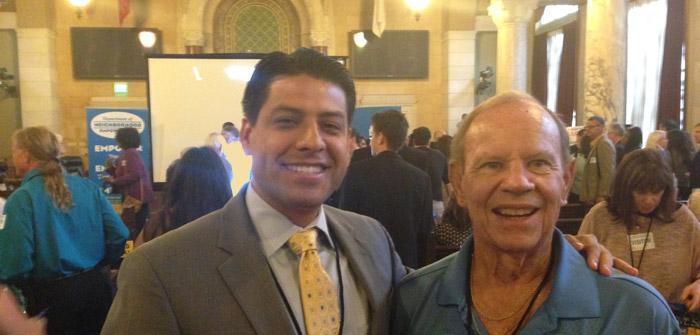 Armando Nunez and Dick Rippey at Neighborhood Congress