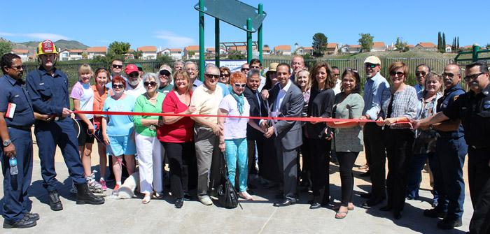 Holleigh Bernson Park Exercise Equipment Ribbon Cutting